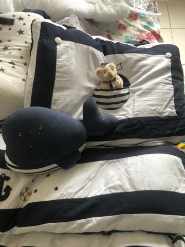 Kit berço urso marinheiro grão da gente  - Foto 2