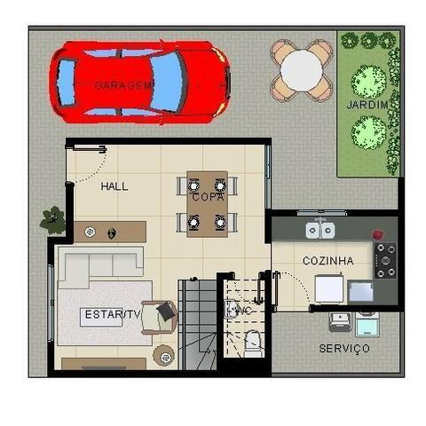 Excelentes Sobrados Tríplex em Condomínio - Pinheirinho - Apenas 4 unidades internas - Foto 4