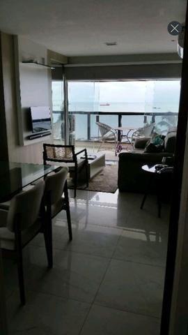 Lindo flat mobiliado na beira mar - Foto 19