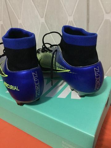a697e8764 Chuteira Campo Nike Mercurial Victory 6 DF Neymar Jr FG - Azul e Preto