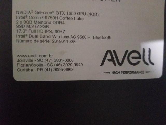 Notebook Gamer Avell G1750 - Lacrado - Foto 2