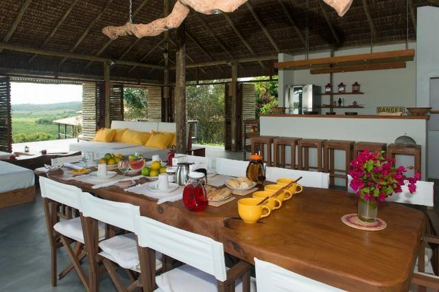 Casa de luxo 5 suites e wi-fi. 100 km de praia do Forte. Vista Paradisiaca - Foto 6