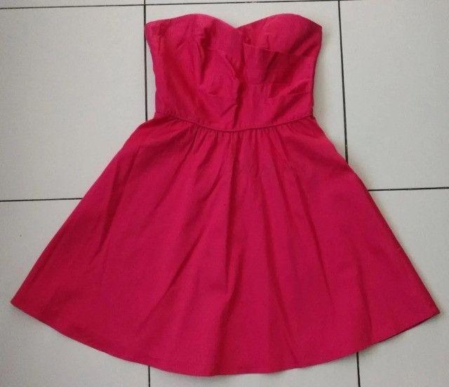Vestido Curto - Rosa - Tamanho P