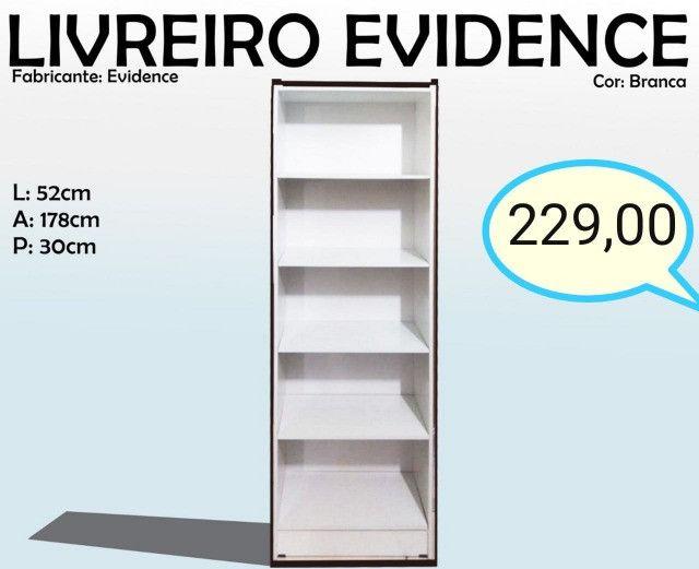 Multiuso Livreiro Evidence - Frete Grátis - 12x s/ Juros - Receba hoje!