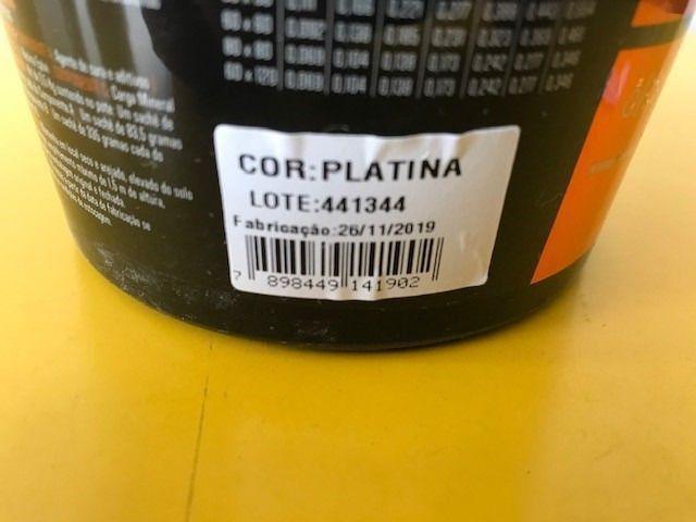 Kit - 07 Potes de Rejunte  Ceramix  EPÓXI - Pote 500G - Cor Platina - Foto 4