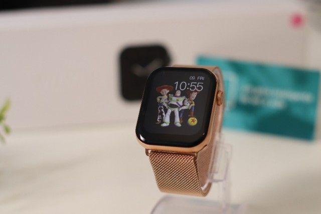 Relógio Inteligente Iwo FK78 Original Compatível com Android e iOS Rosê - Foto 5