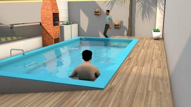 Casa com piscina em Nova Mangabeira, 02 quartos com suíte - Foto 2