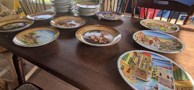 Pratos de porcelana pintado a mão - Foto 4