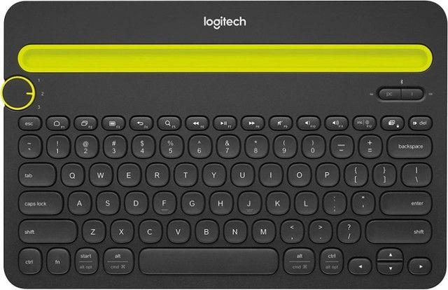 Teclado sem fio Logitech [ Smartphone e Tablet] para até 3 dispositivos (Novo nunca usado) - Foto 2