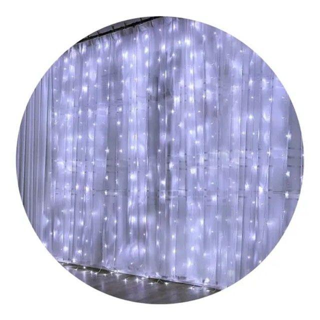 Cortina de led decorativa 127v 3x2 10w - Foto 4