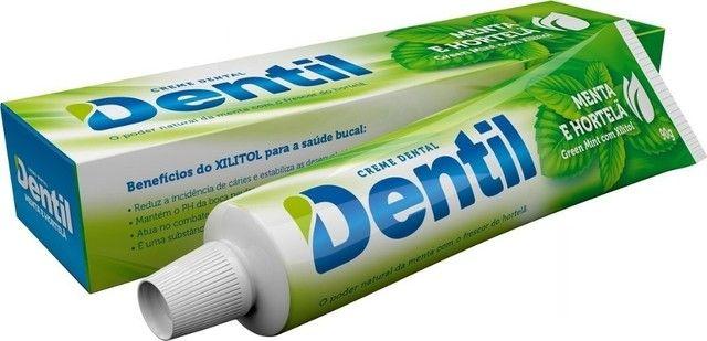 Pasta creme dental sem flúor dentil e com Xilitol (mais saúde) - Foto 2