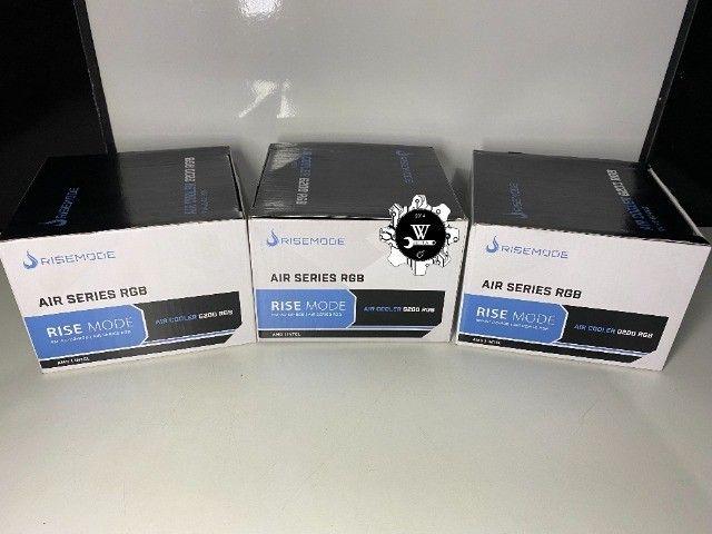 Air Cooler Processador Rise Mode RGB G200 AMD Intel - Foto 6