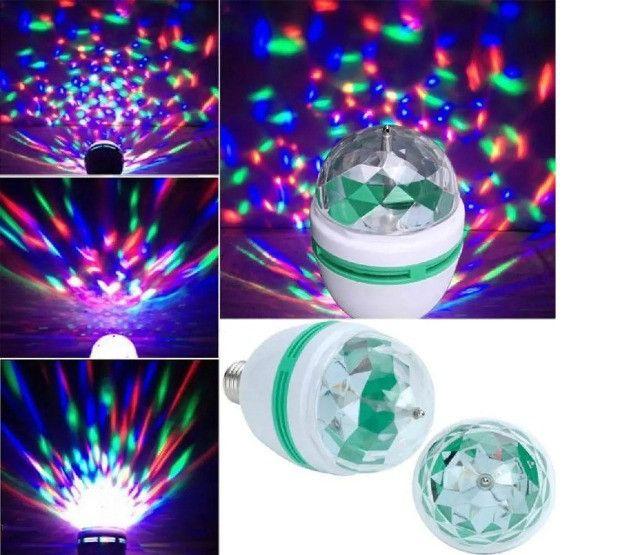 Lâmpada Led Giratória RGB, Luzes Coloridas, Festa - Ecooda - Foto 2
