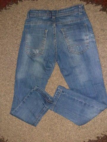 Calça jeans clara, Tam 6 - Foto 2