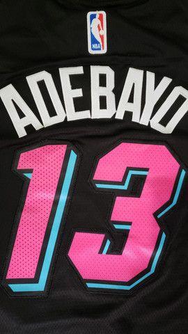 Camisa regata NBA Miami heat nr 13 Adebayo tam P - Foto 4