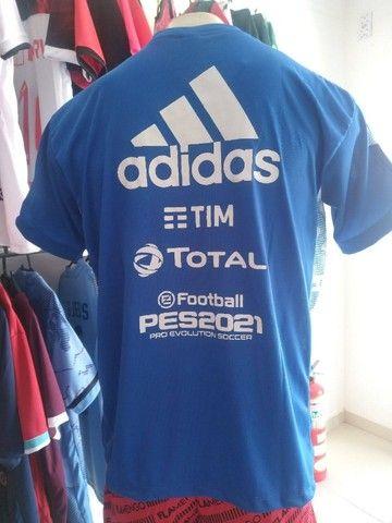 Camisa Flamengo Exclusiva Azul 2021 - Foto 2
