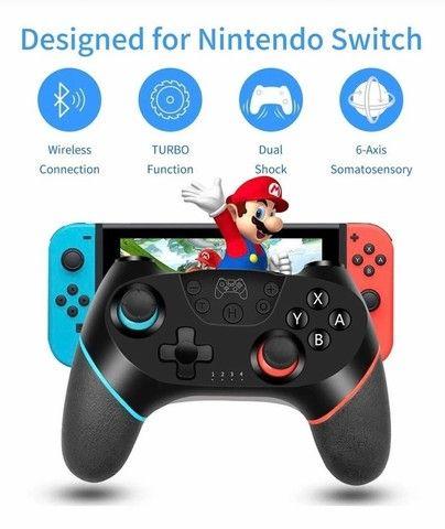 Controle Nintendo Switch Sem Fio Bluetooth Pro Controller Joystick - Foto 4