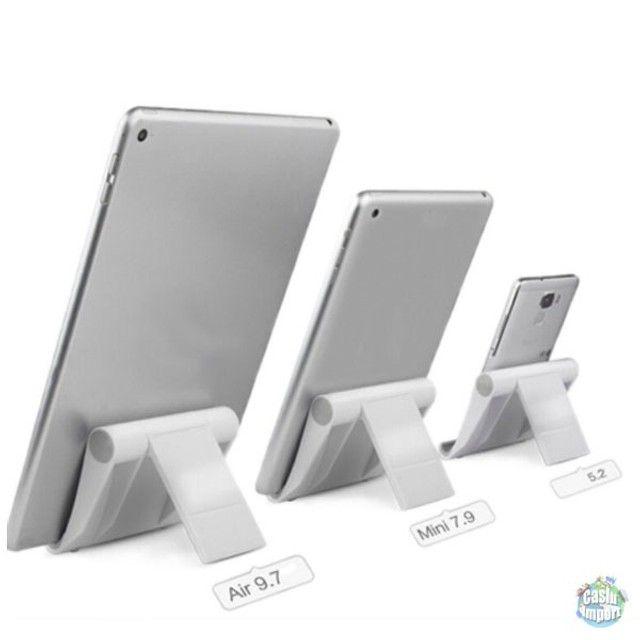 Suporte dobrável de plástico de mesa para celular e tablet - Foto 3