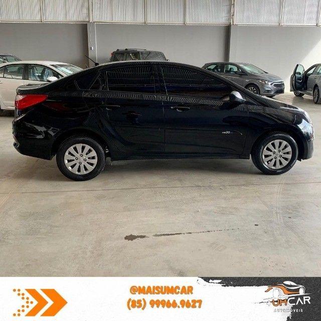 Hyundai HB20S - Unique - 1.0 -  2019 - 20.000Km - Preto - Foto 3