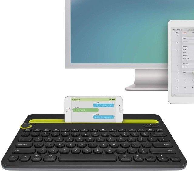 Teclado sem fio Logitech [ Smartphone e Tablet] para até 3 dispositivos (Novo nunca usado) - Foto 3