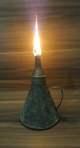 Lamparina de Flandres Candeeiro Rústica