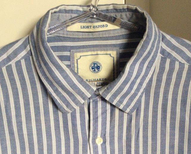 Camisa manga longa em algodão listrada Richards