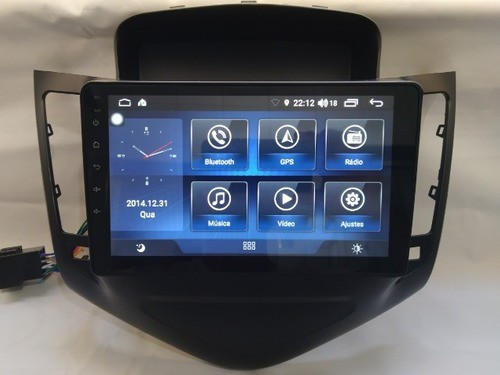 multimidia gm chevrolet cruze 9 polegadas lt ou ltz gps wifi android 9 camera  - Foto 3