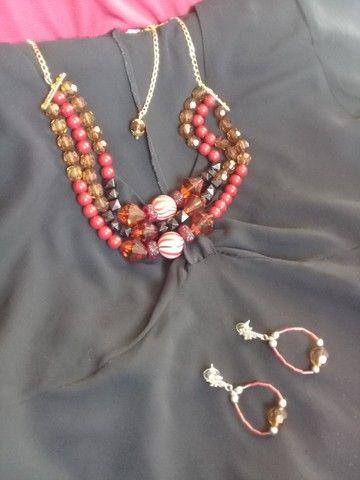Conjunto Maxxi colar e brincos - Foto 5