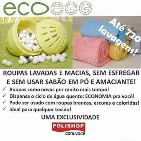 Eco egg Polishop - Lava ropas sem sabão em pó e amaciante