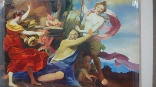 Obra de arte tela óleo sobre tela quadro grande