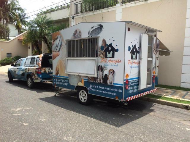 Trailer para pet shop móvel