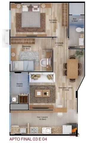 Apartamento com 2 dormitórios à venda, 63 m² por r$ 278.000,00 - tabuleiro - camboriú/sc - Foto 2