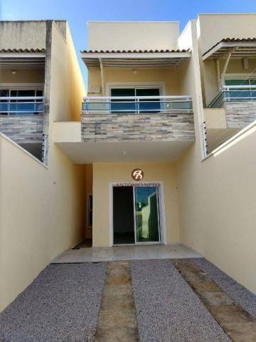 Casa duplex com 3 dormitórios sendo 2 suítes, 2 banheiros, a venda,  por R$ 310.000 - Mess