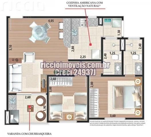 Apartamento à venda com 2 dormitórios em Parque industrial, São josé dos campos cod:AP0102 - Foto 6