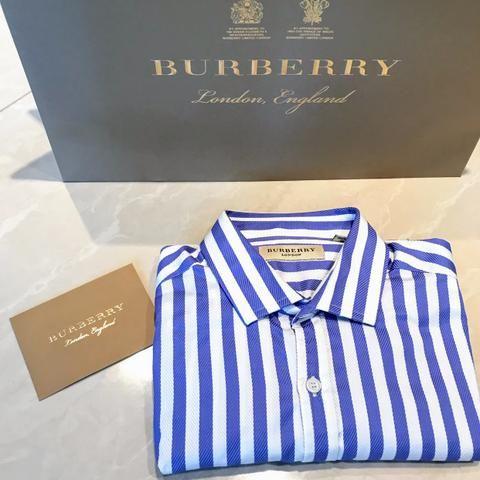 Camisa Original Burberry Slim Fit 100% algodão d9e3217c60905