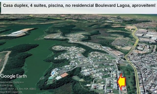 Casa duplex, 04 suítes, espaço gourmet c/ piscina, Boulevard Lagoa Residence &Resort - Foto 20