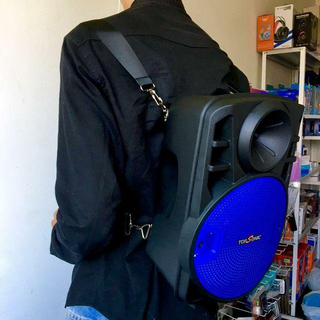 Caixa de som e mochila  - Foto 2