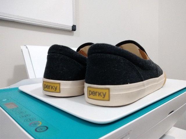 Tênis Perky Slip On Ônix - Foto 3