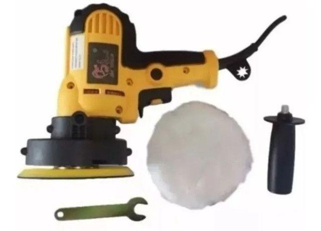Lixadeira E Poolitriz Sa.tools 550w + 20 Lixas + Boina<br><br> - Foto 2