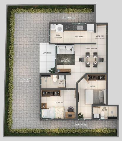 Apartamento á Venda 1 ou 2 quartos nos Bancários - Foto 4