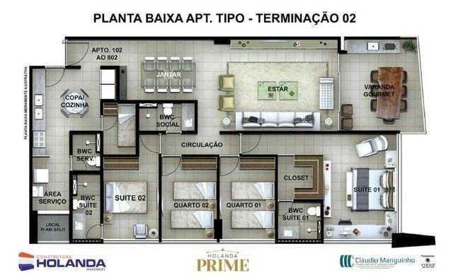 BR_LM - Lançamento na Beira Mar de Casa Caida - 144m² | Varanda Gourmet Holanda Prime - Foto 10