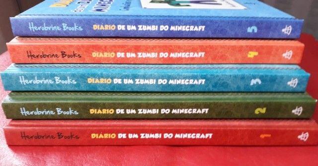 5 Livros Diário de um Zumbi - Minecraft - Foto 2