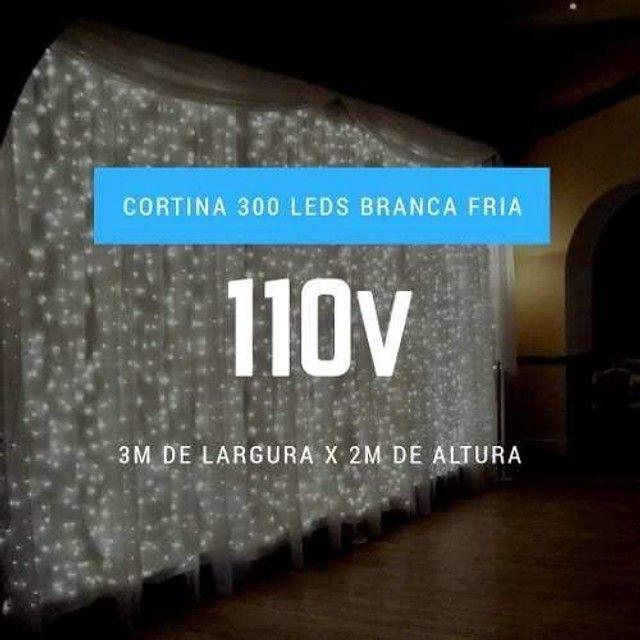 Cortina de led decorativa 127v 3x2 10w - Foto 2