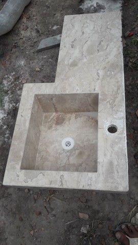 Bancada de granito   projeto esculpido  - Foto 2