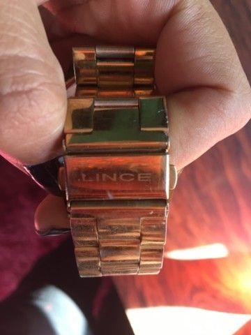 Relógio dourado Lince - Foto 2