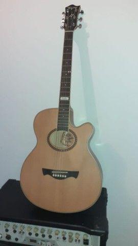 Vendoou troco  por outro  violão  folk  do mesmo  nivel ou melhor dou um volta dependendo  - Foto 5