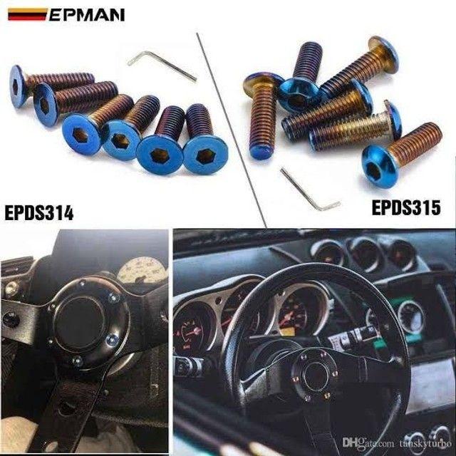 Kit 6 Parafusos Para Cubo Volante Esportivo Titanium E.P.M.A.N - Foto 9