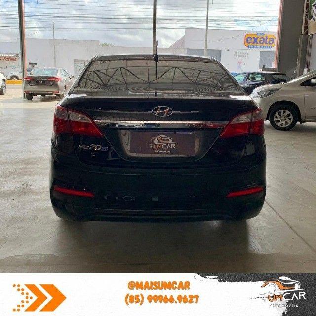 Hyundai HB20S - Unique - 1.0 -  2019 - 20.000Km - Preto - Foto 4