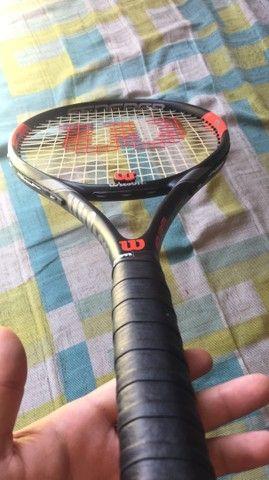 Raquete Wilson Federer original nunca usada acompanha 6 bolinhas lacradas originais  - Foto 6