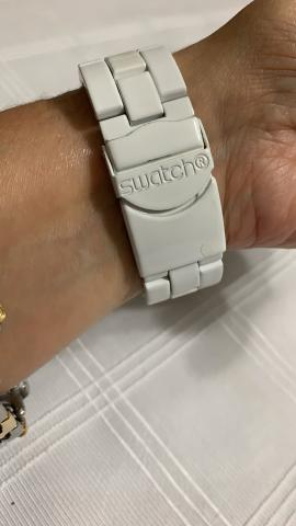 Relógio Swatch Branco - Foto 4